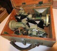 Antique WILD Heerbrugg T-1 Lighted Target Set & Tribrach X2 Traverse Survey T2