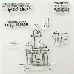 HOMEMADE WITH KINDNESS SILICONE STAMP SET, CHRISTMAS, Stove, Baking, Cook,