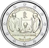Italien 2 Euro 70 Jahre Verfassung 2018 Gedenkmünze bankfrisch
