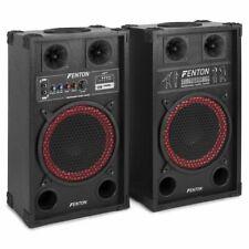 "COPPIA CASSE AMPLIFICATE ATTIVE KARAOKE 600W 10"" BLUETOOTH + USB/SD"