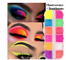 12 Colors/Box Fluorescent Neon Pigment Eye Shadow Makeup Palette Glitter Shimmer