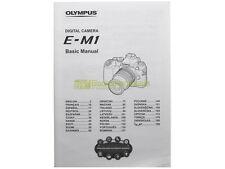Libretto di istruzioni Olympus OMD E-M1 in italiano. Manuale utente.