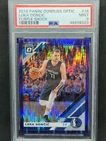 2019-20 Donruss Optic Purple Shock Luka Doncic PSA 9