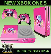 XBOX ONE S SLIM Console Sticker My Little Pony Pink Rainbow SKIN & 2 PAD SKINS