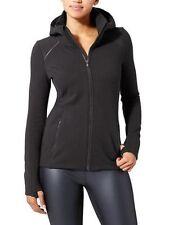 ATHLETA Stronger Hoodie Jacket- Black EUC $108 Sz XS