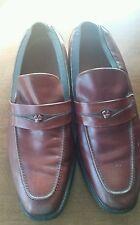 VTG Allen Edmonds Biscayne Loafers Cap Toe Burgundy Leather Shoes Size 11 C