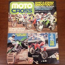 AUGUST 1983 MOTOCROSS MAGAZINE 83 KX250 JEFF WARD 4 STROKE SHOOTOUT VINTAGE VMX