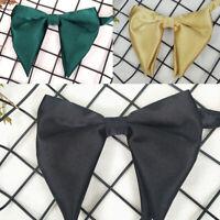 Oversized Silk Bowtie Men Suits Big Bow Tie Wedding Groom Party Wear 13*11CM New