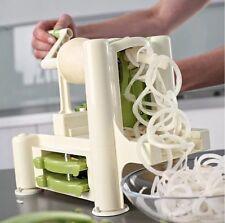 Spiral Slicer Cutter Chopper Spiralizer Shred Vegetable Fruit Twister Peeler UK
