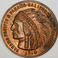 1915 Panama-Pacific California Exposition Souvenir Penny Large Medal