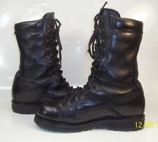 "Matterhorn 1949 mens 6M Black Leather Steel Toe Gore-Tex 10"" jump Boots military"