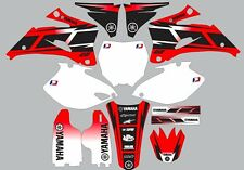 Graphics for 2006-2009 Yamaha YZ450f 450f Decals Shrouds Rear fender Hurricane