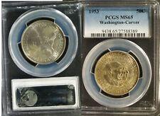 1953 Washington Carver Commem Half Dollar  - MS-65 (PCGS)  (toning)     stk#8389