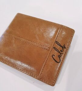 Personalised Genuine Leather Men's Wallet Name Engraving Birthday Wedding Gift