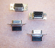 QTY (25)  748565-1 AMP 15 POSITION HIGH DENSITY DSUB RECEPTACLE NOS
