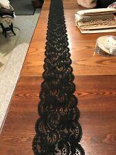 """Antique/Vintage Black Chantilly Style Lace Trim 130"""" L 5 1/2"""" W"""