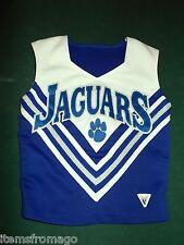 "Varsity JAGUARS Cheerleader Uniform TOP 30"" Bust - Royal Blue, Silver, & White"