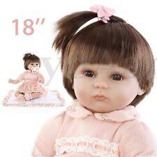 NPKDOLL 18'' BAMBOLA REBORN LIFELIKE BABY DOLL BAMBINA SILICONE GONNA ROSA GIRL