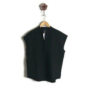 Figs Rafaela Black Sleeveless Oversized Scrub Top Women XS NWT