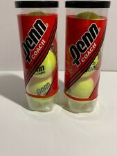 Penn Coach Tennis Ball 2 Cans Contains 6 Balls Brand New