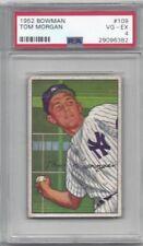 1952 Bowman baseball card #109 Tom Morgan, New York Yankees graded PSA 4
