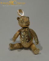 Large Teddy Bear Pendant with Movable Head,Arms, Legs cast in 9ct Gold 33g