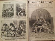"LA PRESSEILLUSTREE 1877 N° 507  Mlle SARAH BERNARDT dans ""HERNANI """