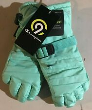 Champion C9 Waterproof Duo Dry Warmest 4/7 GIRLS SKI GLOVES Teal Green - NEW