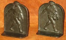 "Collectible Painted Iron Bookends 'The Sower' Snead & Co. 1925 4 7/8""H x 3 7/8""W"