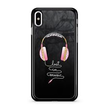 Lost In Music Quote Colourful Pink Over Ear Headphones 2D Phone Case Cover
