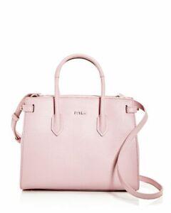 NWT!!! Furla Camelia Pink Small East/West Embossed Leather Satchel: Orig $398.00