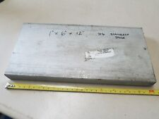 "316 Stainless Steel Flat Bar,  1"" x 6"" x 12""  Machine Stock"