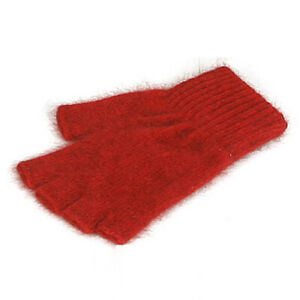 New Zealand Possum and Merino Knitwear Open Fingerless Gloves