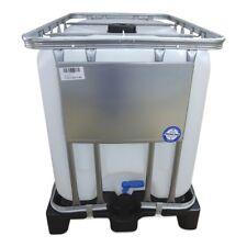 600 Liter IBC Gefahrgut Tank UN-Zulassung Container natur Kunststoffpalette NEU