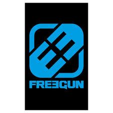 Serviette de plage Freegun 100 x 170 cm Logo Noir Bleu