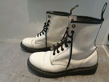 Dr Martens White Boots patent leather 8 hole uk 6