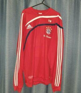 BAYERN MUNICH Adidas Red Sweatshirt Sweater Training Jumper Nt Shirt Jersey XL