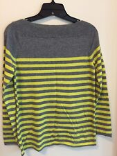Women's Gap Designed & Crafted Pullover Knit Sweater, Gray/Yellow, Size XS