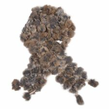 New Rabbit Fur Soft Winter Collar Neck Warmer Scarf Shawl Brown M6S8