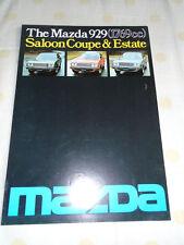 Mazda 929 1769cc Saloon Coupe & Estate brochure Sep 1976