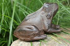 Gusseisen Frosch Laubfrosch Garten Deko Metall braun Figur Skulptur