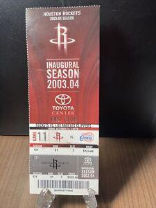 HOUSTON ROCKETS VS LOS ANGELES CLIPPERS FULL UNUSED TICKET DEC 19 2003