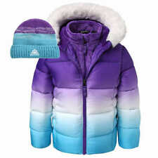 Snozu Girls' Kids Jacket w/ Hat - PURPLE (Select Size: 2T-6) * FAST SHIPPING *