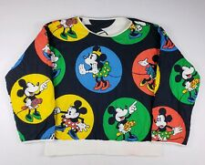 Vintage 1980's Mickey & Co Reversible Sweatshirt Mickey Minnie Mouse Black White