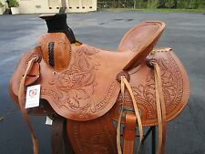 15 16 WADE HIGH BACK ROPING PLEASURE FLORAL TOOLED LEATHER WESTERN HORSE SADDLE