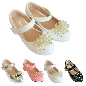 Girls kids Children wedding Bridesmaid Casual Evening Party Shoes Size