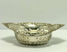 Antique 1900 Gorham Cromwell Sterling Silver Pierced Candy Nut Dish Bowl
