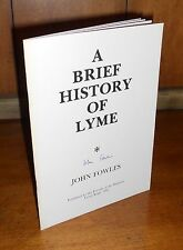 Signed First Edition ~ A Brief History of Lyme by John Fowles, 1981, Lyme Regis