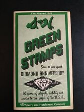 Vintage Diamond Anniversary S & H Green Stamps Booklet 1956