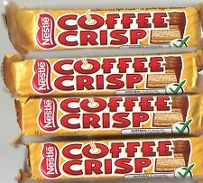 4 Coffee Crisp chocolate candy bar imported from Canada standard 50g size Nestle